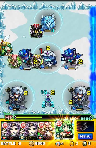 モンスト/秋刀竜(サンマ)攻略 バトル3