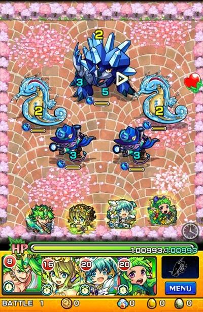 お花見オラゴン/バトル1